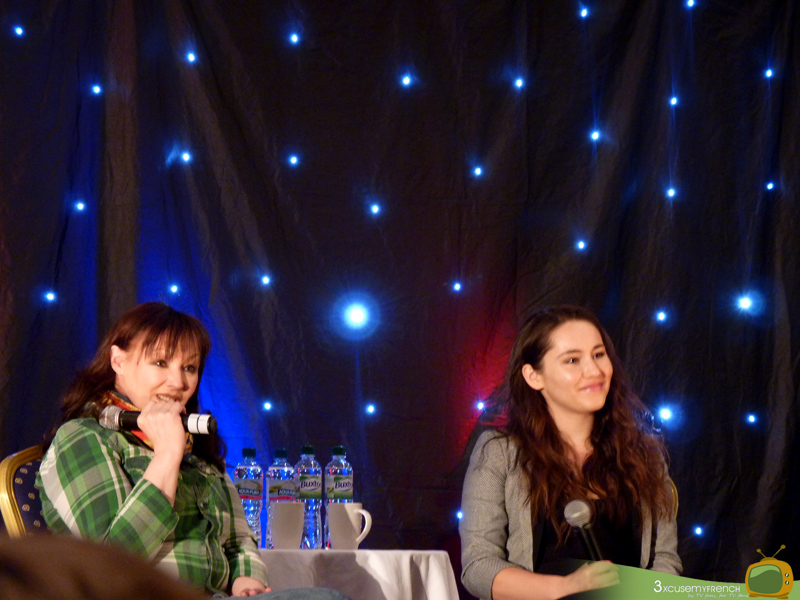 Frances Barber and Christina Chong at the 11th Hour, a Doctor Who convention